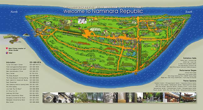 bản đồ du lịch đảo nami