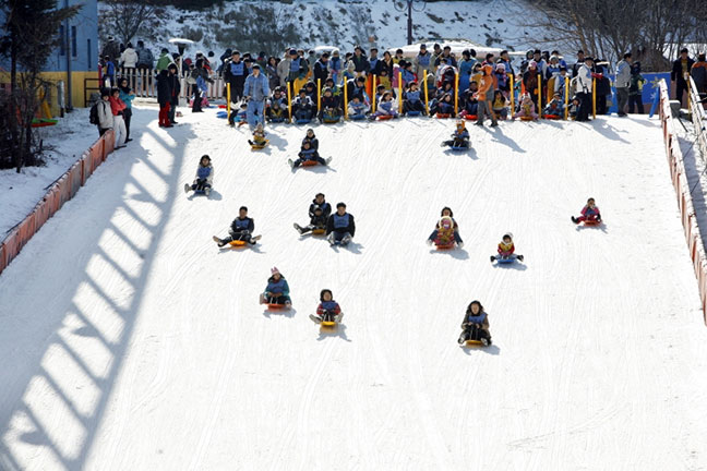 một lễ hội trượt tuyết tại hàn quốc