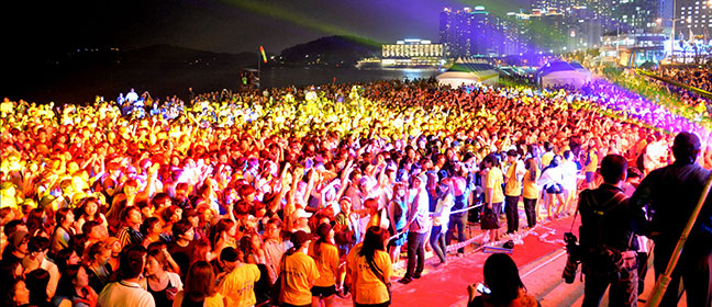 lễ hội biển haeundae beach festival ở bãi biển haeundae