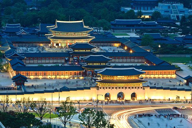 toàn cảnh cung điện gyeongbokgung - hàn quốc