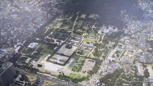 ảnh chụp cung điện gyeongbokgung từ trực thăng