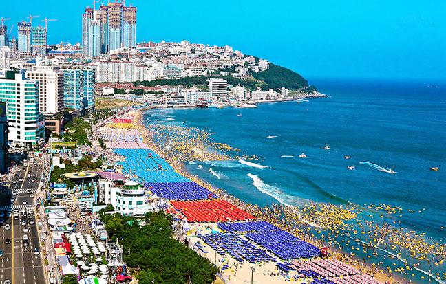 những lễ hội lớn thường diễn ra tại tại bãi biển haeundae