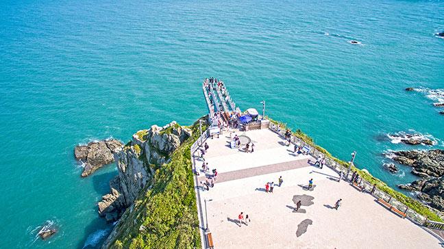 oryukdo skywalk -đài ngắm cảnh bằng kính