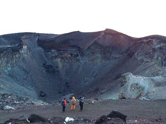 miệng núi lửa phú sĩ