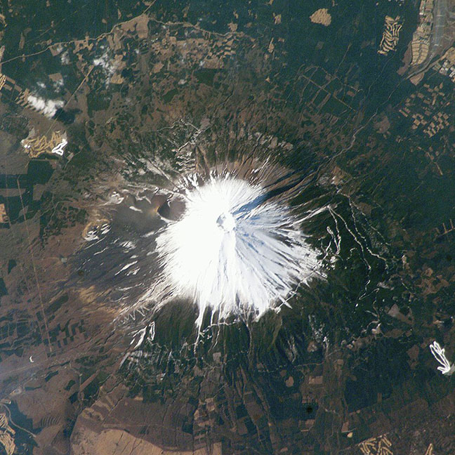 ảnh núi phú sĩ chụp từ nasa