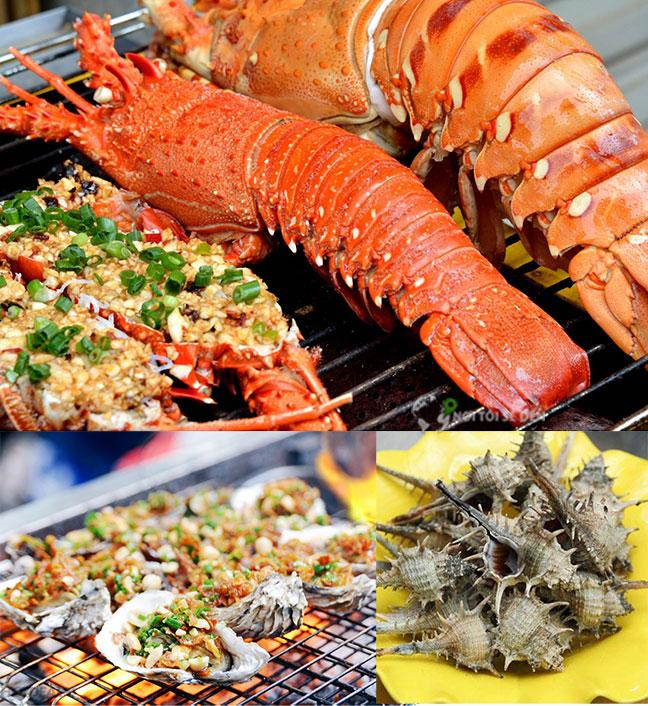 các món hải sản tại vịnh biển lăng cô