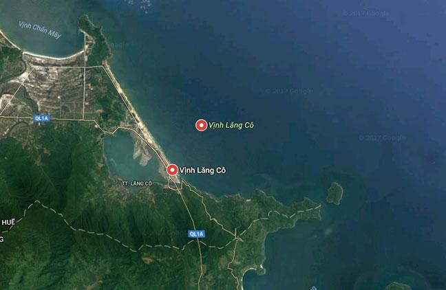 ảnh chụp vịnh lăng cô từ google map